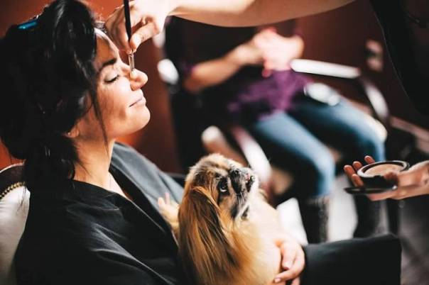 I finally relaxed when Rupert joined me in the makeup chair. Photo credit: DonHwang.com